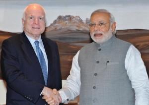 Senator John McCain and Narendra Modi
